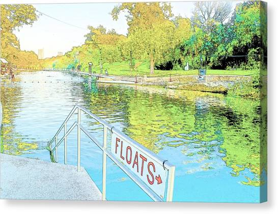 Barton Springs Sketch Canvas Print