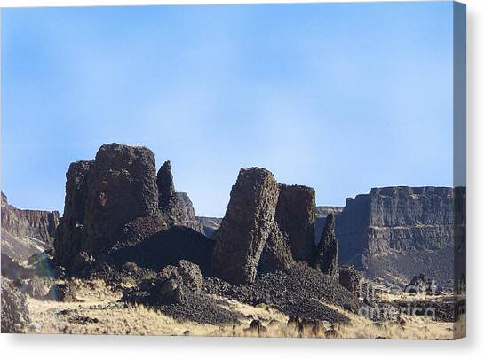 Basalt Columns - The Ice Age Flood Canvas Print