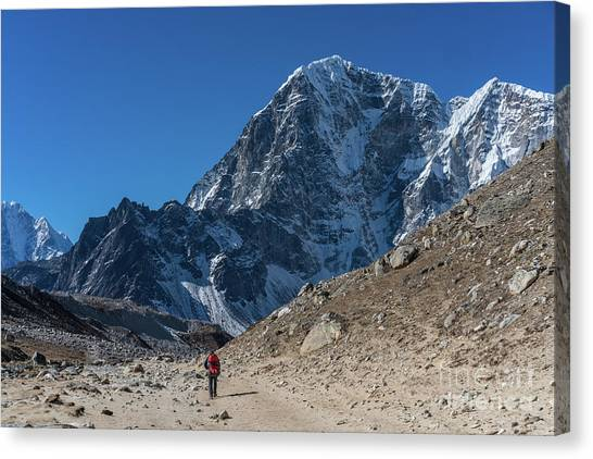 K2 Canvas Print - Base Camp Trek Back To Tabuche by Mike Reid