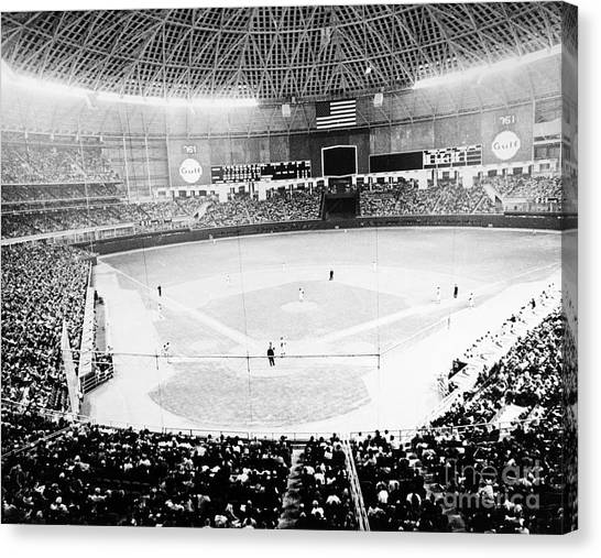 Baseball: Astrodome, 1965 Canvas Print