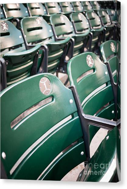 Chicago White Sox Canvas Print - Baseball Ballpark Seats Photo by Paul Velgos