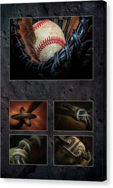 Gloves Canvas Print - Baseball Collage I by Tom Mc Nemar
