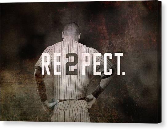 Derek Jeter Canvas Print - Baseball - Derek Jeter by Joann Vitali
