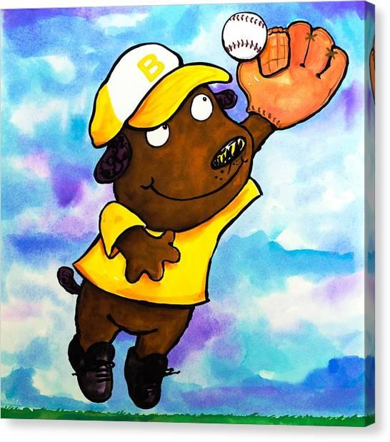 Baseball Dog 4 Canvas Print by Scott Nelson
