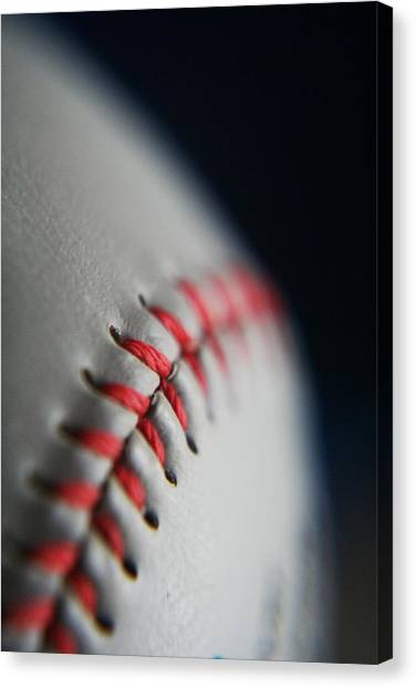 Baseball Canvas Print - Baseball Fan by Rachelle Johnston