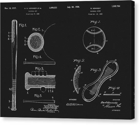 Lou Gehrig Canvas Print - Baseball History Patent by Dan Sproul