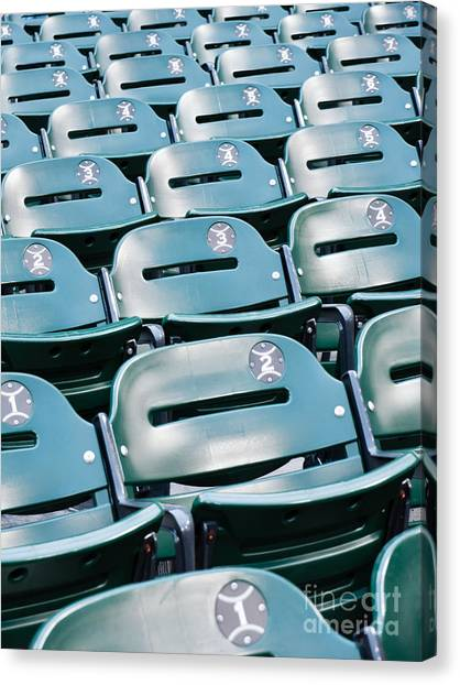 Chicago White Sox Canvas Print - Baseball Stadium Seats by Paul Velgos
