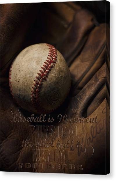 Yogi Canvas Print - Baseball Yogi Berra Quote by Heather Applegate