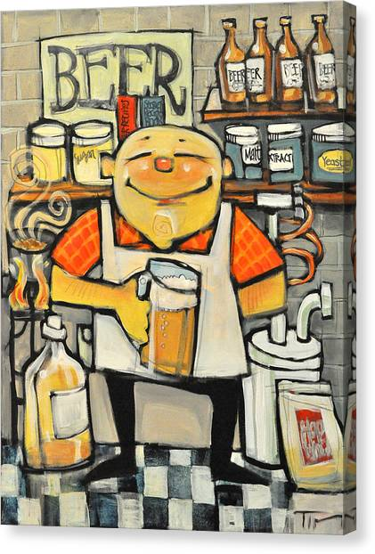 Beer Canvas Print - Basement Brewer by Tim Nyberg