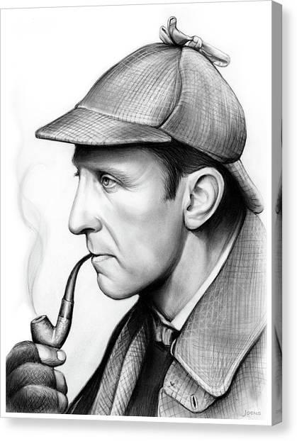 Hollywood Canvas Print - Peter Cushing by Greg Joens