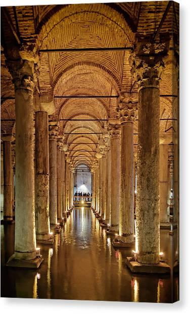 Basilica Cistern Under Istanbul Canvas Print