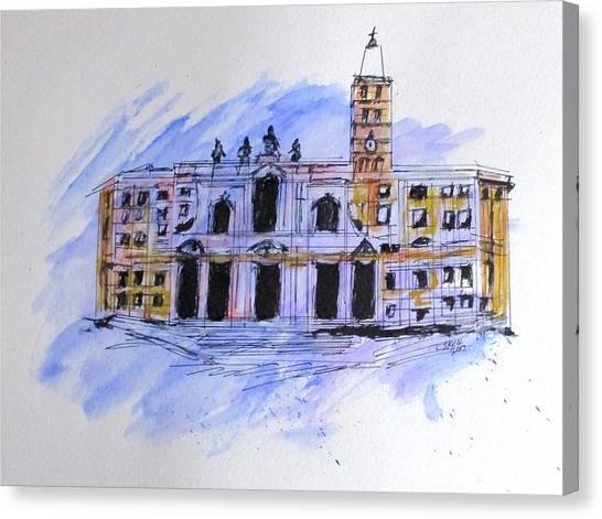 Basilica St Mary Major Canvas Print