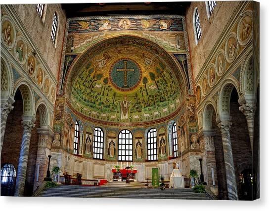Classe Canvas Print - Basilica Of Sant' Apollinare In Classe by Nigel Fletcher-Jones