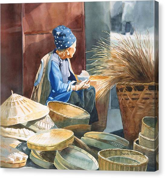 Basket Maker Canvas Print by Sharon Freeman