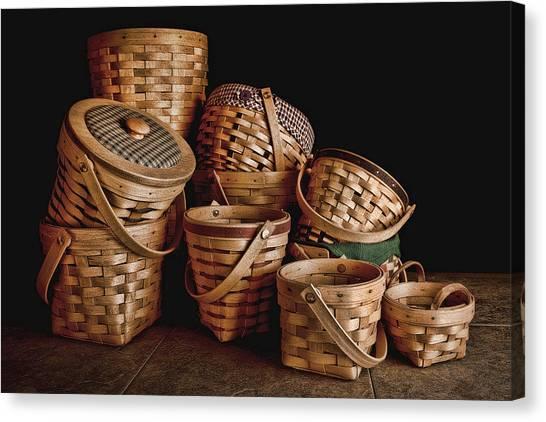 Baskets Canvas Print - Basket Still Life 01 by Tom Mc Nemar