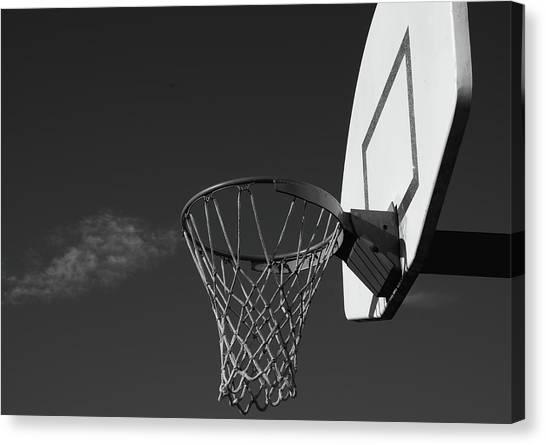 Nets Canvas Print - Basketball Court by Richard Rizzo