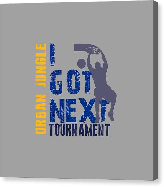 Indiana Pacers Canvas Print - Basketball I Got Next 2 by Joe Hamilton