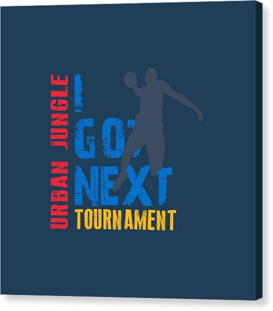 Oklahoma City Thunder Canvas Print - Basketball I Got Next 3 by Joe Hamilton