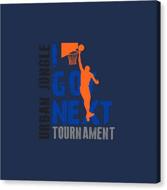 New York Knicks Canvas Print - Basketball I Got Next by Joe Hamilton