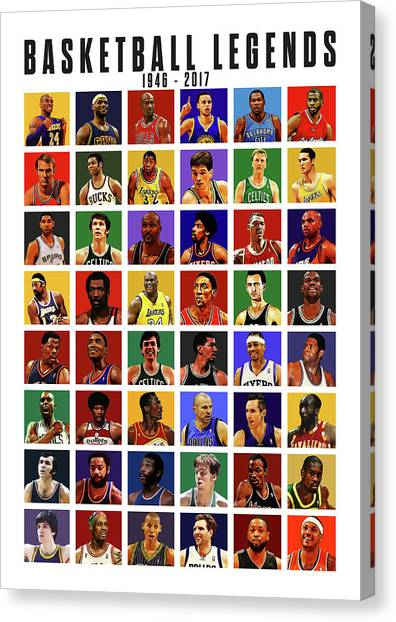 Larry Bird Canvas Print - Basketball Legends by Semih Yurdabak