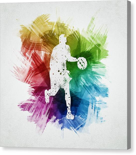 Basketball Players Canvas Print - Basketball Player Art 16 by Aged Pixel