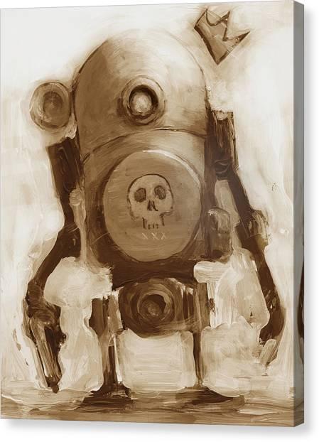 Science Canvas Print - Basquibot by Matthew Schenk