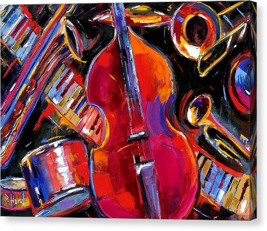 Trombones Canvas Print - Bass And Friends by Debra Hurd