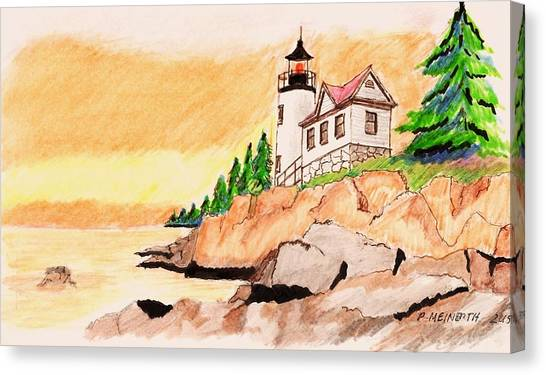 Bass Harbor Head Lighthouse Canvas Print by Paul Meinerth