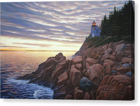 Bass Harbor Light Canvas Print by Bruce Dumas