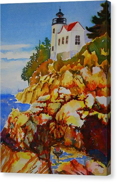 Bass Harbor Light House Canvas Print