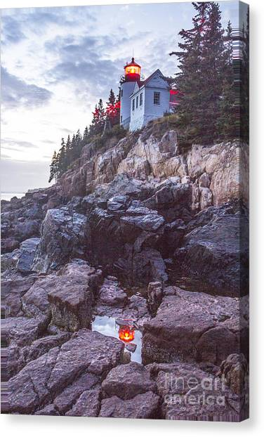 Bass Harbor Light Reflection Canvas Print