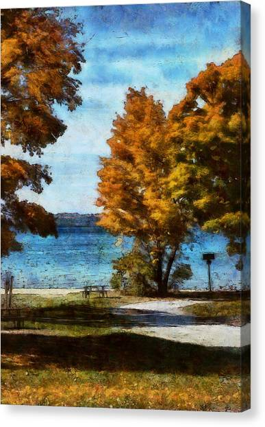 Bass Lake October Canvas Print