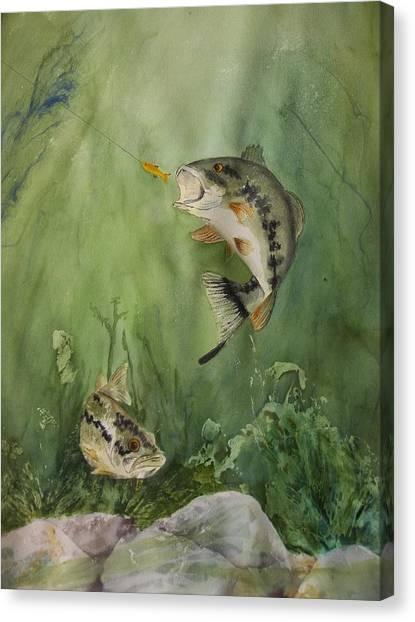 Bass On The Bottom Canvas Print