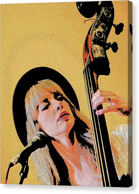 Bass Player Canvas Print
