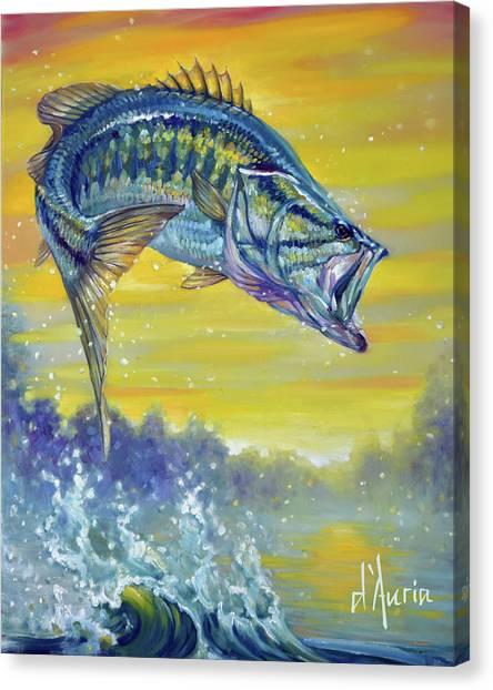 Freshwater Canvas Print - Bass by Tom Dauria