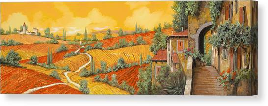 Cypress Canvas Print - Bassa Toscana by Guido Borelli