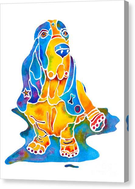 Basset Hound Art Prints Canvas Print