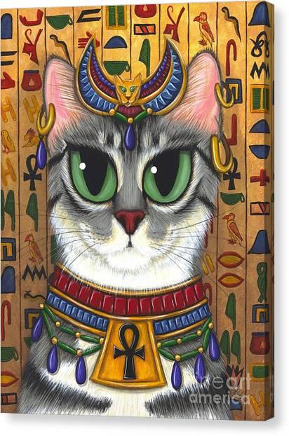 Bast Goddess - Egyptian Bastet Canvas Print
