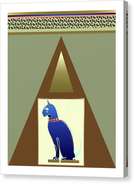 Canvas Print featuring the mixed media Bastet  by Larry Talley