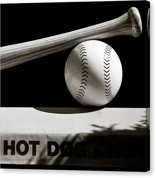 Hot Dogs Canvas Print - Bat And Ball by Dave Bowman
