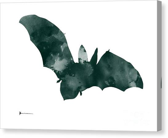 Bat Canvas Print - Bat Minimalist Watercolor Painting For Sale by Joanna Szmerdt