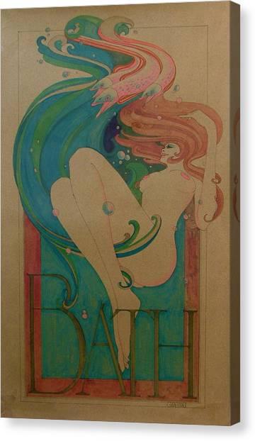 Bath Canvas Print by Gary Kaemmer