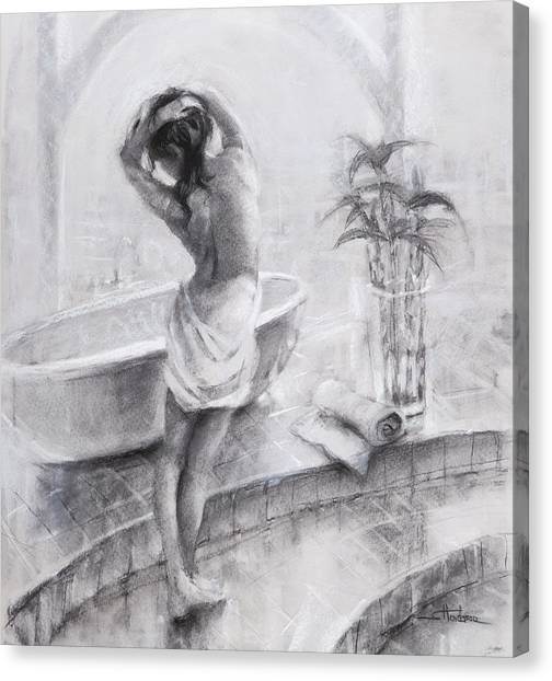 Bathing Canvas Print - Bathed In Light by Steve Henderson