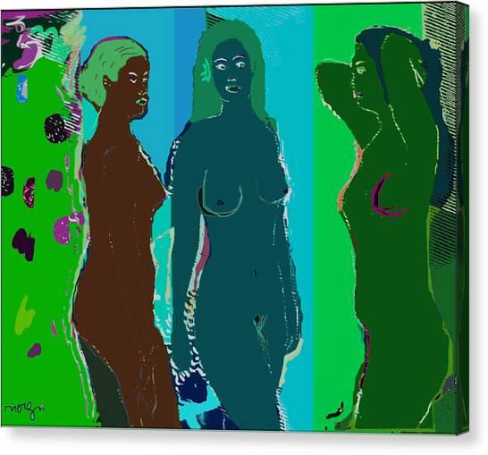 Bather 15 Canvas Print by noredin Morgan