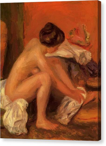 Bather Drying Her Feet 1907 Canvas Print