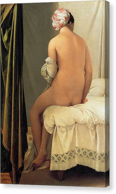 Bather Of Valpincon Canvas Print by Jean-August-Dominique Ingres