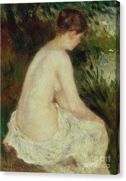 Pierre-auguste Renoir Canvas Print - Bather by Pierre Auguste Renoir
