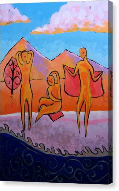 Bathers 2 Canvas Print by Aliza Souleyeva-Alexander