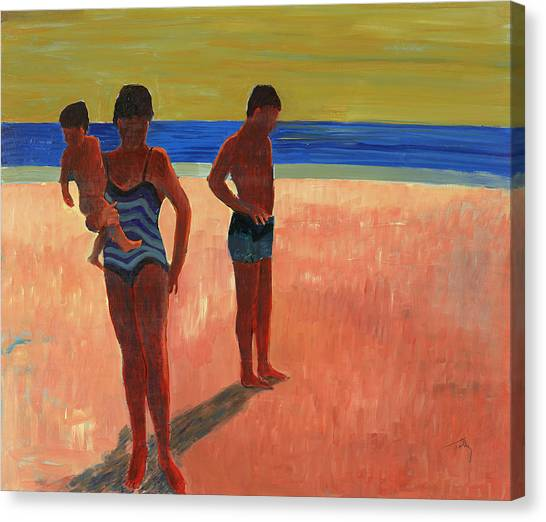 Bathers 88 Canvas Print