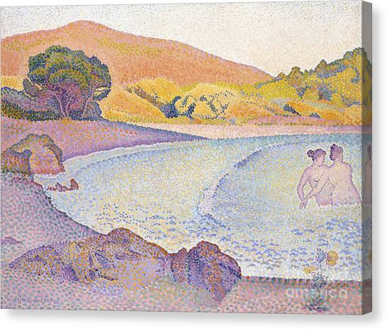 Pointillism Canvas Print - Bathers by Henri Edmond Cross